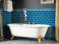 Original Style Artworks Baroque Blue Bathroom Wall Tiles