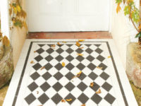 St Andrews Pattern Victorian Black And White Floor Tiles In Porch