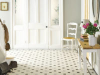 Nottingham pattern Victorian tiles with Conrad border