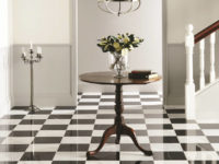 Marble Tiles Gallery Image - Original Style Earthworks Viano White polished marble and Nero Polished Marble