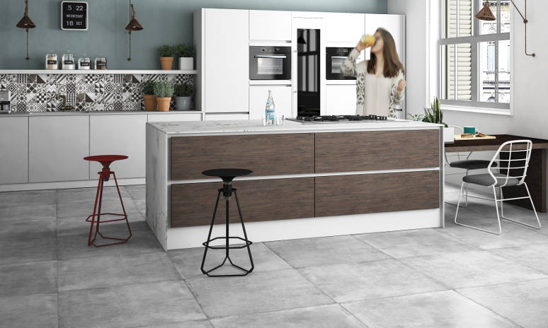 Beton Grey porcelain tiles