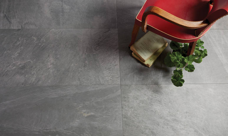 Porcelain tiles - Formation Porcelain textured Gris floor tiles