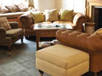 Original Style Earthworks Burnt Sienna Slate Floor Tiles In Living Room