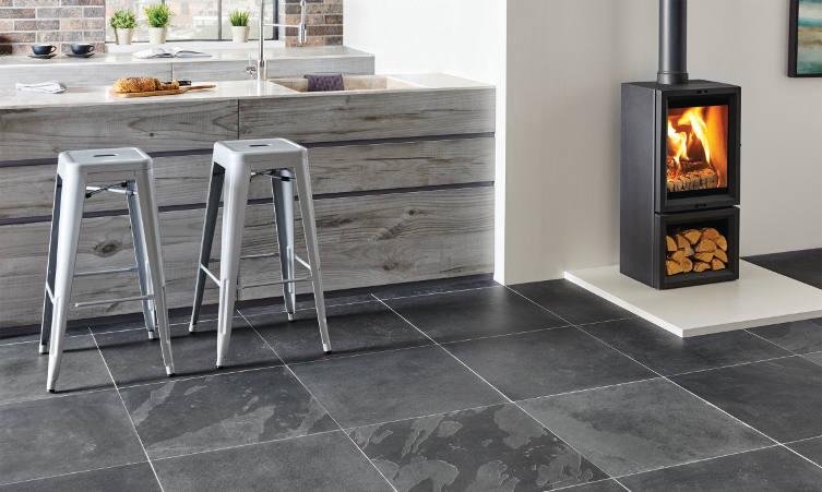 Original Style Earthworks Slate Floor Tiles In Kitchen