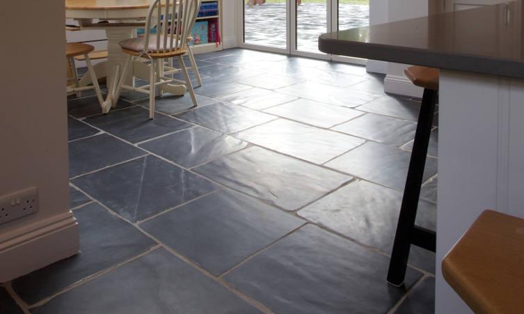 Shepton Worn stone floor tiles