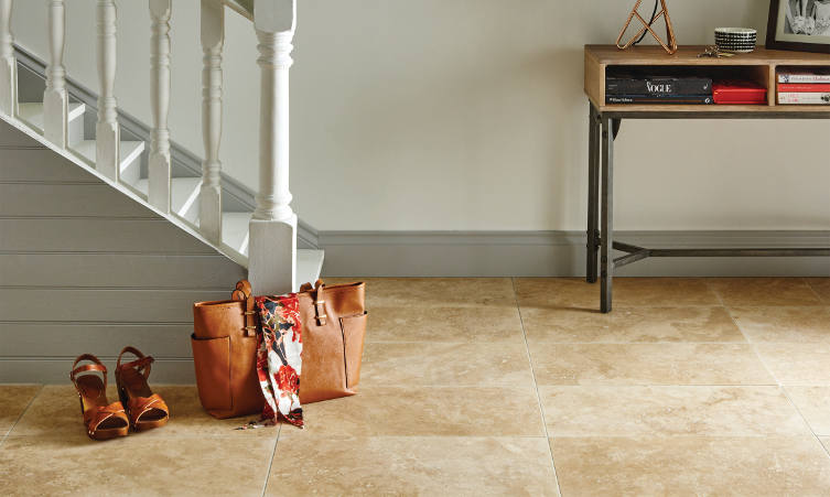 Original Style Earthworks Travertine Limestone Tiles in New Umbrian Gold