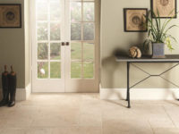 Original Style Earthworks Levantine Ivory Manor Floor Tiles In Front Of French Windows