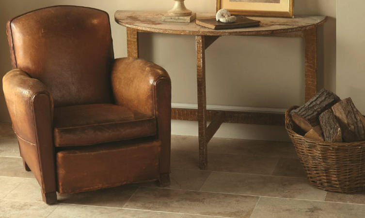 Travertine Original Style Earthworks Floor Tiles In Umbrian Classic