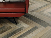 Rovere Wood Effect Porcelain Floor Zigzag Tiles