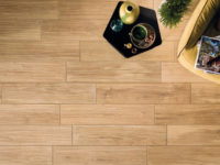 Light Coloured Wood Effect Porcelain Tiling