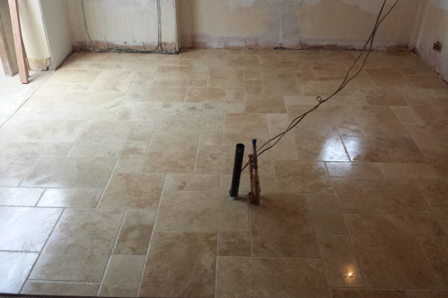 Renovation Project Adding Stone Floor Tiles