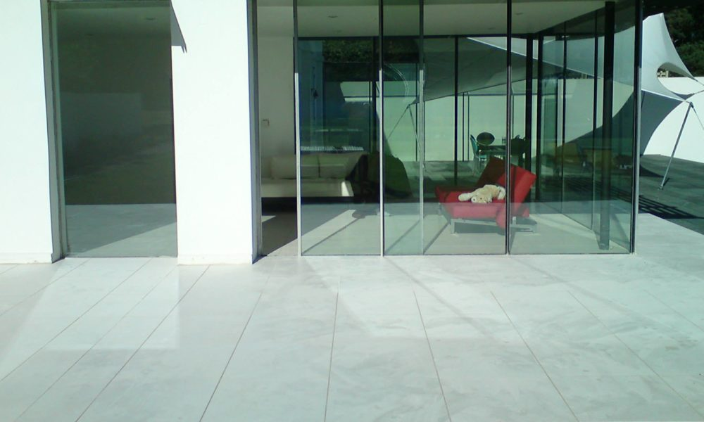 Designer Flawless Tiles In Patio Area